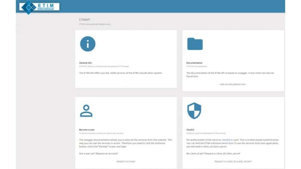 New release ETIM API