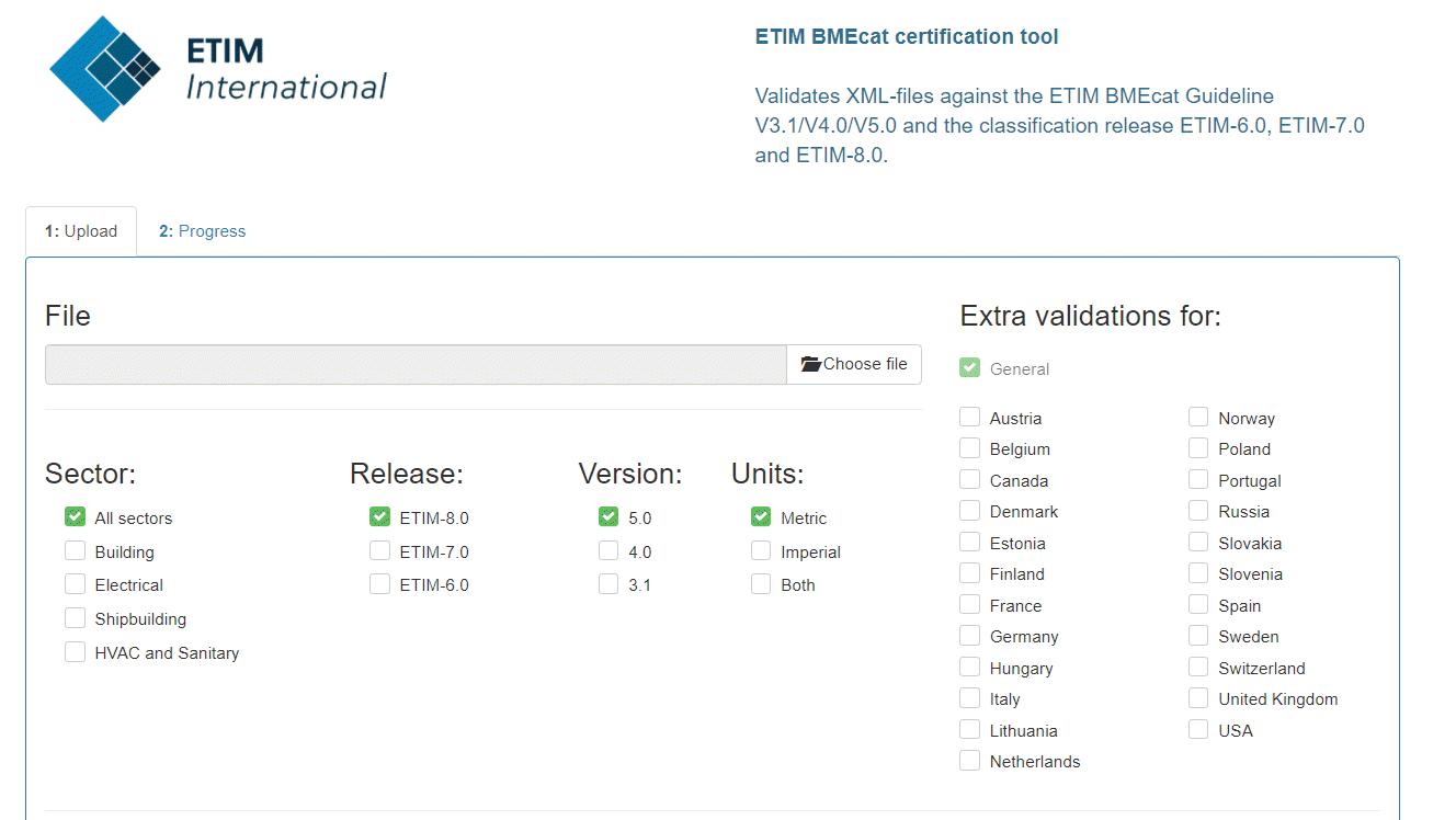 ETIM BMEcat certification tool upgraded to guidelines version 5.0